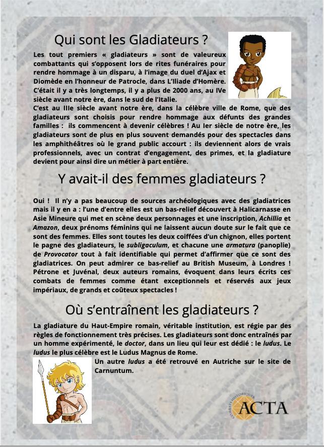 Dossier pédagogique Le monde des Gladiateurs