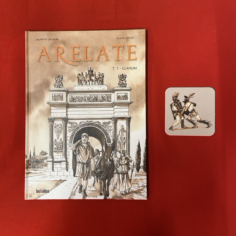ARELATE TOME 7 + GOODIE SOUS VERRE